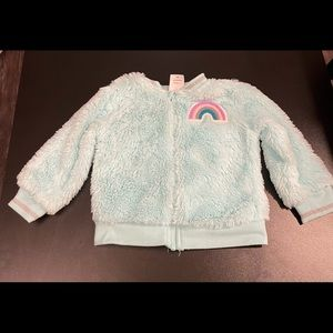 Furry mint green 18 month jacket.